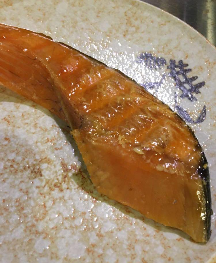 甘塩鮭燻製