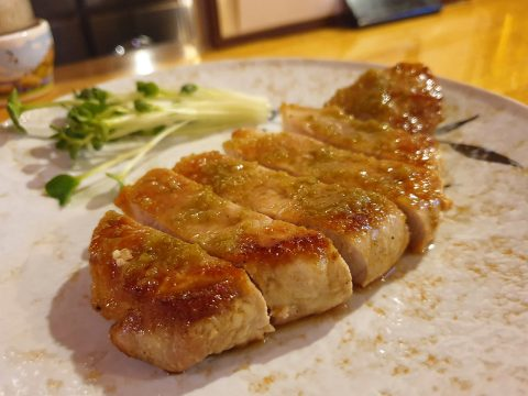豚ロース柚子胡椒焼き